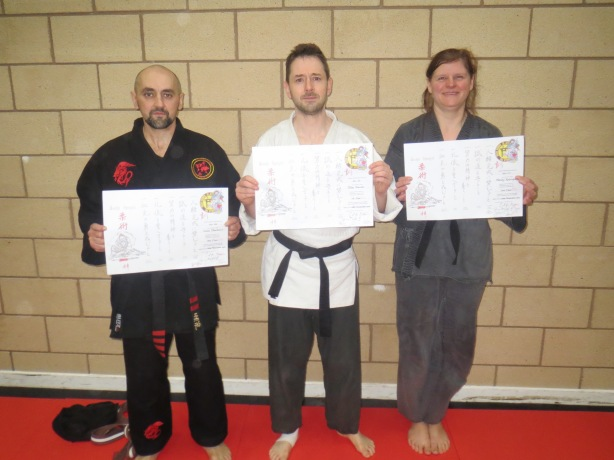 New Dan grades awarded at Stoke Seminar