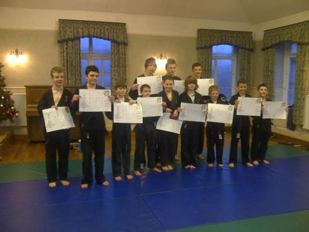 Well done to all junior black belt students...